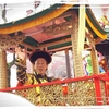 長崎ランタンフェスティバル、皇帝パレード。武田鉄矢さんを見てきました。