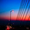 湘南銀河大橋と丹沢大山の夕暮れ(2017年7月)