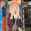 パリ、モンマルトルの街散策。壁の落書き絵が楽しい。
