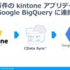 100万件のkintone アプリデータをGoogle BigQuery に連携して集計・分析を行う:CDataSync