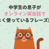 【初心者レベル】中学生の息子がオンライン英会話でよく使っているフレーズ集