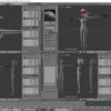 HoloLens特化のホロ恋子モデルを作成する その31(ウェイト設定による頂点の動き)