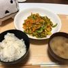 ゴーヤのカレー炒め!(夕飯)