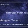 音楽に救われた話。Qomolangma Tomato「through your reality」