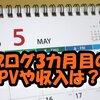 ブログ開始3カ月目の投稿数と検索流入・PV変化・収入(アドセンス・アフィリエイト)