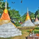 「サンクラブリー」からタイ国境「スリーパゴダパス」まで来たが、目の前のミャンマーには入国できず。。。