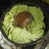 鶏レバーとキャベツ with 椎茸