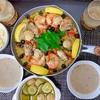 本気飯!牡蠣のパエリア、マッシュルームとズッキーニのアヒージョ〜サフランの入れ忘れにご注意ください〜