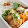 白身魚フライお弁当 と クラムチャウダーのお夕飯