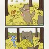 チベットスナギツネの砂岡さん「落ち葉」