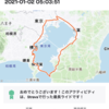 R3.1/2(土)湾一(東京湾一周)完走。🙌