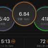 ジョギング6.84km・今日は無敵でペース走