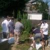 西教寺墓地の清掃ボランティア