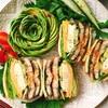 鰻の蒲焼とチーズ卵の高野豆腐サンドイッチ