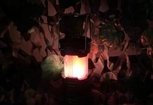 テント内で焚き火!っぽいランタンの炎を楽しむ