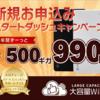 大容量WiFi(ルナ)は今だけ500GB・月額990円!!