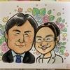 手描きのご夫婦の似顔絵