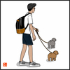 犬の4コマ漫画 20
