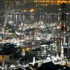 瀬戸大橋と水島コンビナート工場夜景