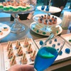 ゲランのパーティーへ行くと、青の世界観が作り込まれていたよ