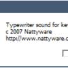 タイプライターみたいなキーボードが欲しい。とりあえずは疑似音で我慢することにしました。