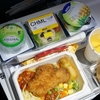 【子連れ香港旅行記18】香港発羽田行きANA(NH860便)、大人と子供の機内食。