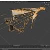 AzureKinectから取得したカラー画像とデプス画像を使ってBlenderで立体を再構築する その2(ノイズ部分の削除)