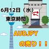 【6/12東京時間】AUDJPYは上値が重い展開。