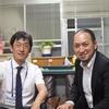 高槻市立城南中学校校長、安田さんと未会吉田会長との地域密着ボランティアについての対談