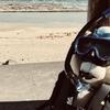 玻名城海岸でシュノーケリング tedの大冒険1