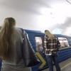 ウクライナ旅行[10](2018年6月)  キエフの地下鉄ホームはモスクワ地下鉄と同様にかなり深かった