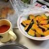 カボチャサラダとタケノコの煮物