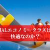 JAL国際線エコノミークラスの評判。シートは広い?狭い?快適さをビジネスクラスと比較した家族旅行の感想。