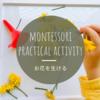 【モンテッソーリの日常生活】お花を生ける