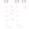 【31】 4/19 4/20 「体の描き方を考える。⑥ -正面の体 6.5頭身まとめ-」