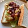 ローストチキンのいちじくソースサンドイッチと豚バラハニーマスタードサンドイッチ