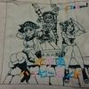 【完成】7日目 遂に仕上がる!!近未来ハッピーエンド【100均ダイソーの刺繍糸で近未来ハッピーエンド/CYaRon!の刺繍をしてみる!】