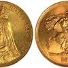 イギリス1887年ヴィクトリアヴェールド5ポンド金貨PCGS MS65