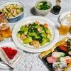 お寿司、たけのこ煮などで晩酌(実家)