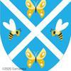 蜂と蝶の紋章。