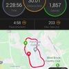 週末30km走 - 先週よりはマシだが。。