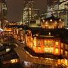 東京丸の内「屋上庭園KITTEガーデンと東京駅丸の内駅舎」夜景