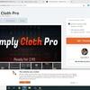 Blenderでクロスシュミュレーション Simply Cloth Proアドオンを試す。