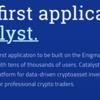 仮想通貨エニグマ/Enigma/ENGとはなんぞや04_公式サイトを見てみよう「Our first application:  Catalyst.」完結