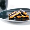 《お菓子とデザイン》歌舞伎柄のぽち袋がかわいい【赤坂柿山】「歌舞伎柄ぽちおかき 」と、「米とぎ侍」