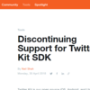 【API Memo】Twitter Kit SDK が10月末でサポートを終了する模様
