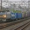 4月24日撮影 東海道線 平塚~大磯間 貨物列車3本撮影 EF66‐27牽引の1097ㇾと2079ㇾ 71ㇾ