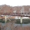 野岩鉄道会津鬼怒川線、湯西川橋梁(2020年12月29日)