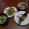 幸運な病のレシピ( 554 )朝:米糠イワシ、キャベツ炒め