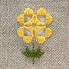『ハーダンガー刺繍のお花ブローチ』キットの織り糸かがり方手順